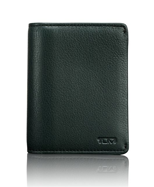 TUMI ID Lock™ Gusseted Card Case in Olive Textured