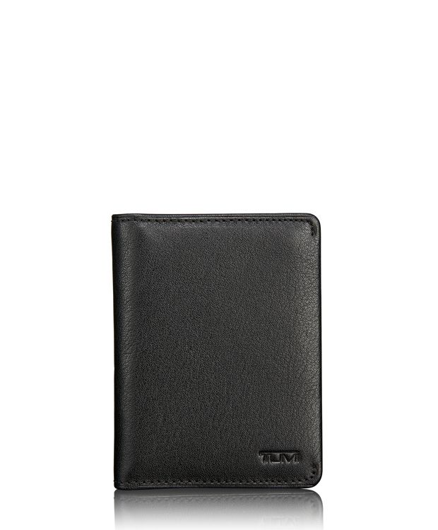 TUMI ID Lock™ Folding Card Case in Black Textured