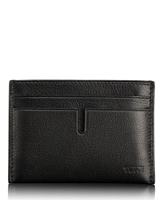 TUMI ID Lock™ Slim Card Case in Black Textured