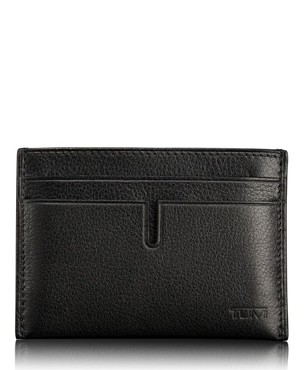 TUMI ID Lock™ Slim Card Case in Black Textured