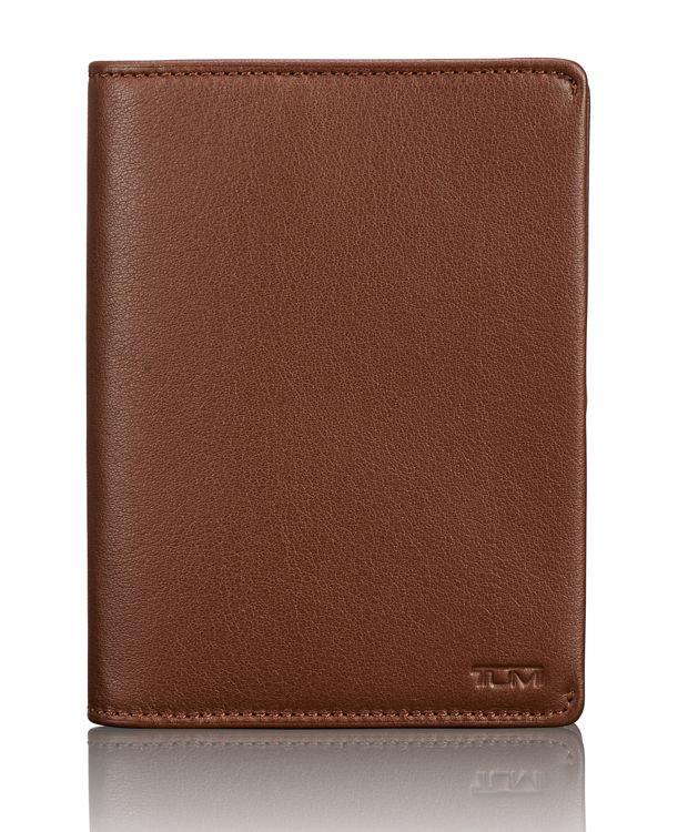 TUMI ID Lock™ Passport Cover in Brown Textured