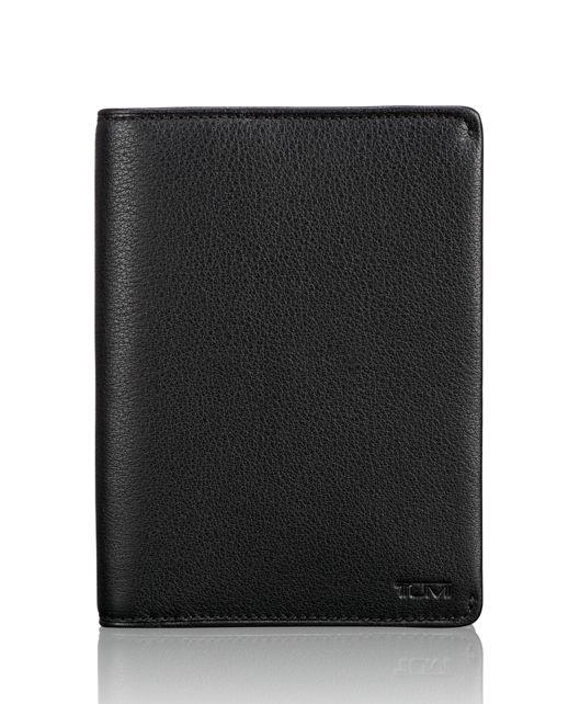 TUMI ID Lock™ Passport Cover in Black Textured