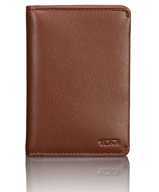TUMI ID Lock™ Multi Window Card Case in Brown Textured