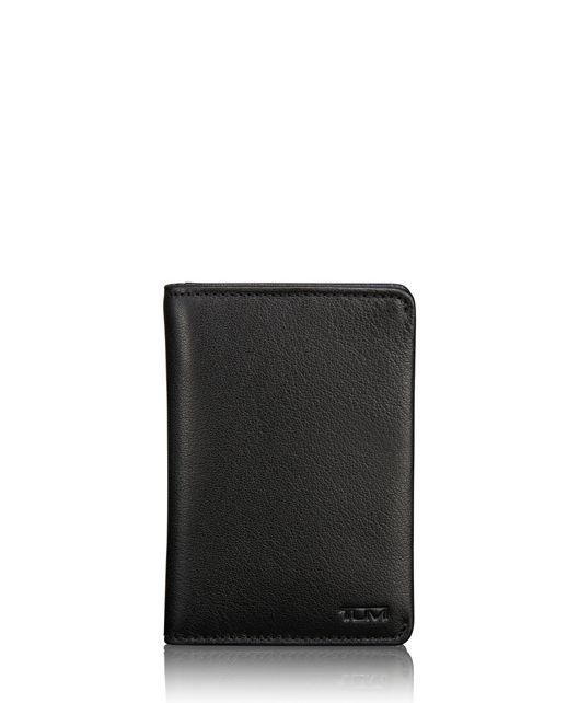TUMI ID Lock™ Multi Window Card Case in Black Textured