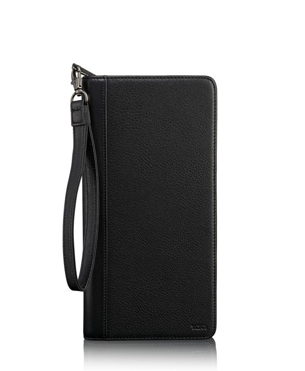 TUMI ID Lock™ Zip Travel Case in Black Textured