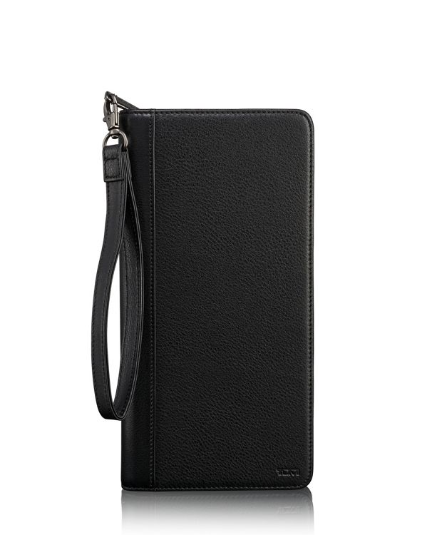 TUMI ID Lock™ Zip Travel Case in Black Textured