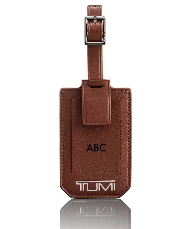 Luggage Tag in Brown Textured