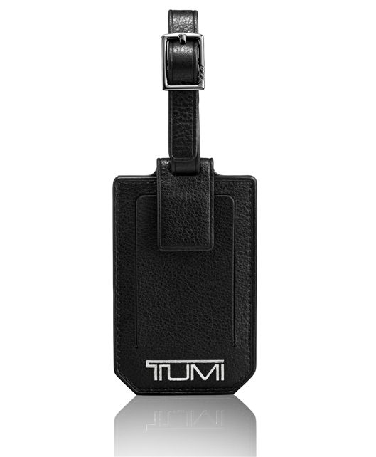 Luggage Tag in Black Textured