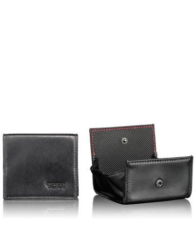 Square Coin Case in Black