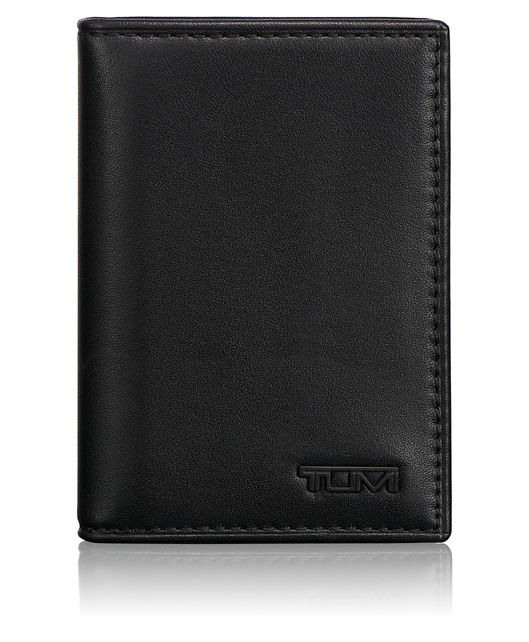 Gusseted Card Case ID in Black