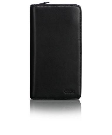 Zip-Around Travel Wallet in Black