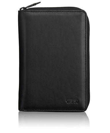 Zip-Around Multiple Passport Wallet in Black