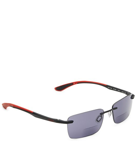 Richmond Sunglass Readers in Black/Red