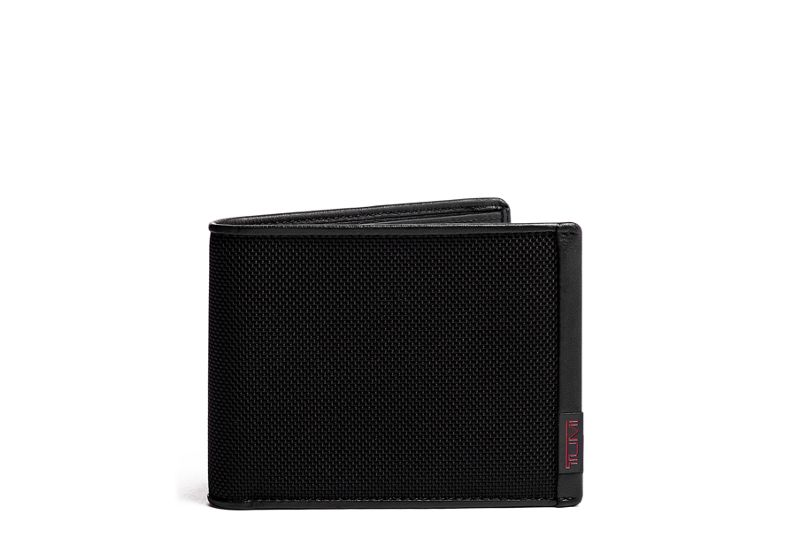 Global Wallet with Coin Pocket in Black