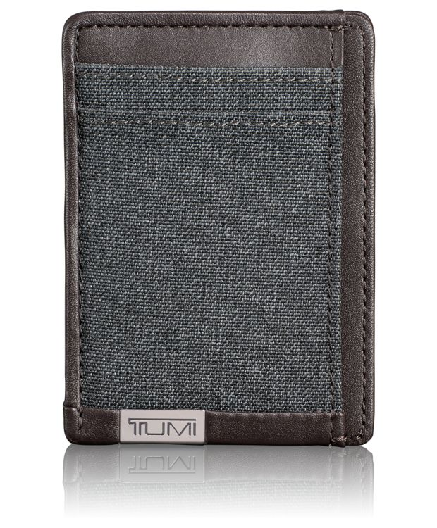 Money Clip Card Case in Anthracite