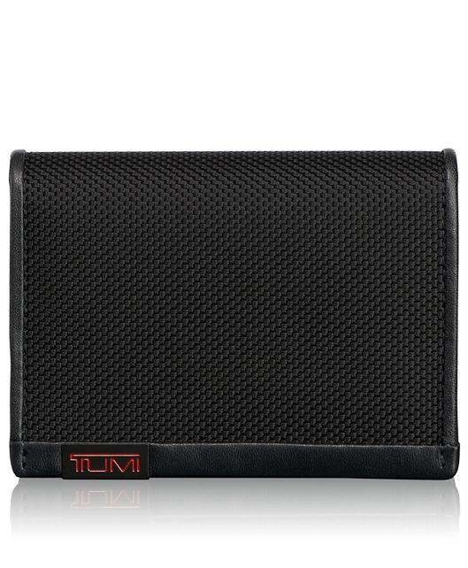 Gusseted Card Case in Black