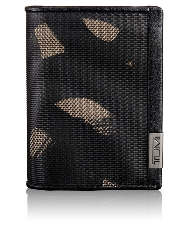 Gusseted Card Case with ID in SMOKE CHARACTER