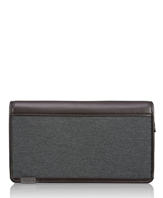 TUMI ID Lock™ Zip-Around Travel Wallet in Anthracite