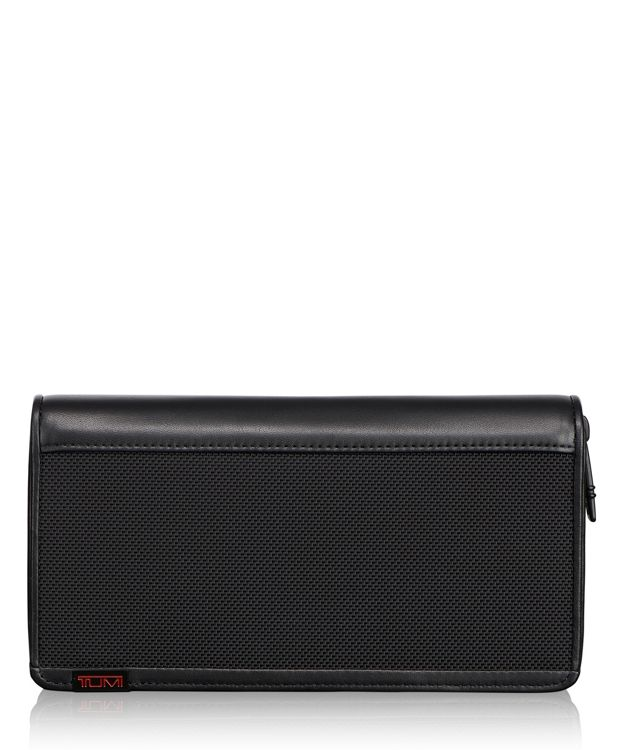 TUMI ID Lock™ Zip-Around Travel Wallet in Black
