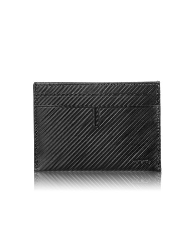Slim Card Case in Black Embossed