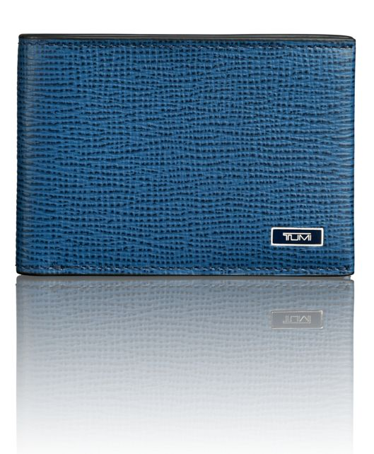 Slim Single Billfold in Cobalt Textured
