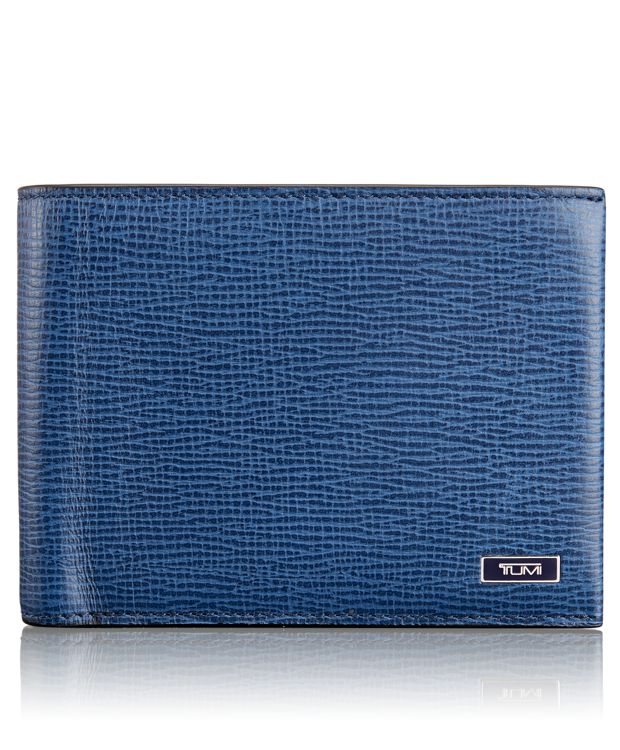 Global Wallet with Coin Pocket in Cobalt