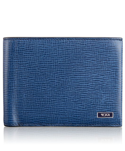 Global Double Billfold in Cobalt