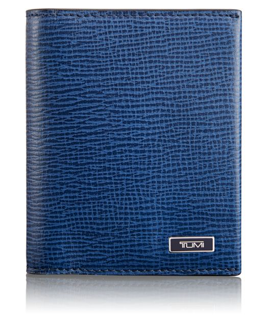 Gusseted Card Case in Cobalt