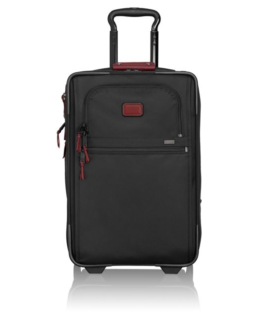 International Expandable 2 Wheeled Carry-On in Crimson