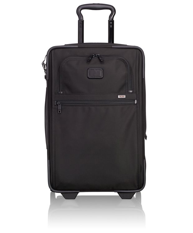 International Expandable 2 Wheeled Carry-On in Black