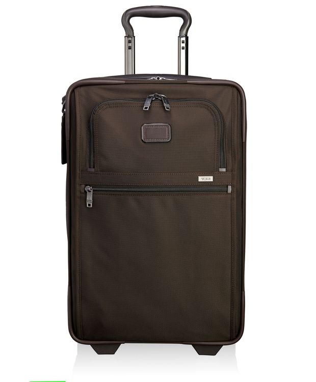 International Expandable 2 Wheeled Carry-On in Espresso/Dark Brown