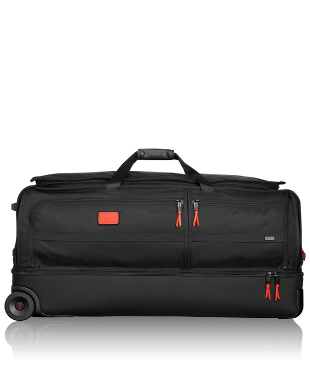 Extra Large Wheeled Split Duffel in Cherry