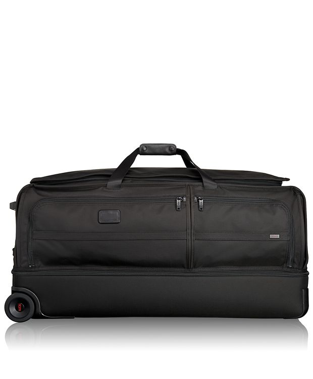 Extra Large Wheeled Split Duffel in Black