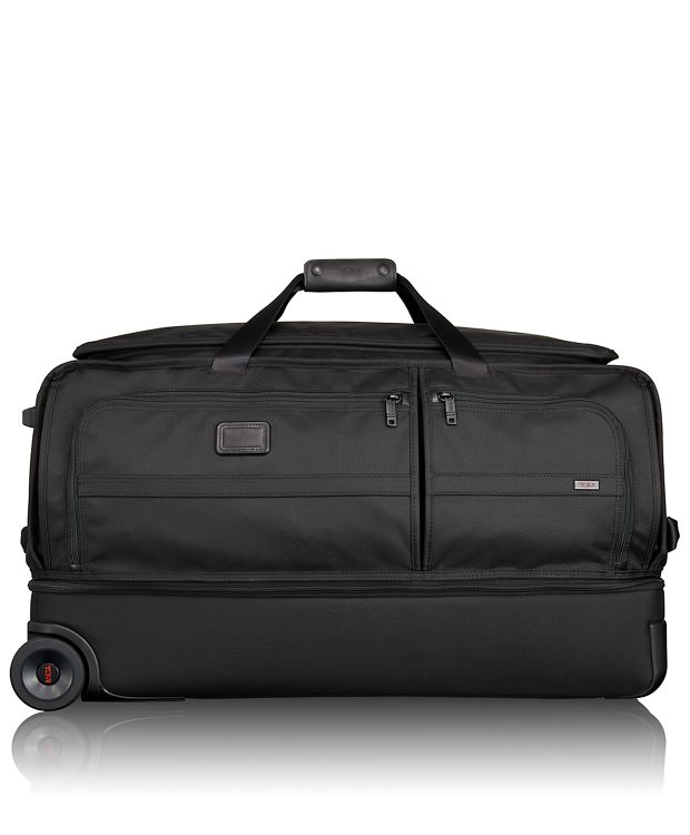 Large Wheeled Split Duffel in Black