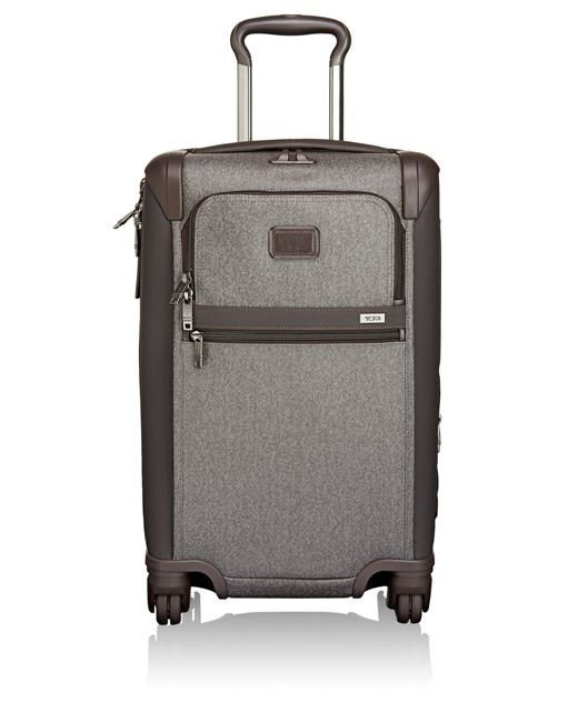 International 4 Wheeled Expandable Carry-On in Earl Grey