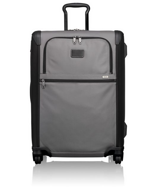 Short Trip Expandable 4 Wheeled Packing Case in Grey/Black