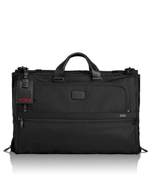 Tri-Fold Carry-On Garment Bag in Black