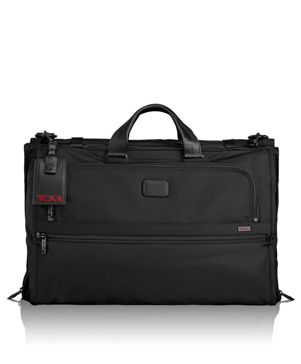 Tri-Fold Carry-On Garment Bag in Black