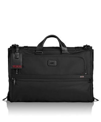 trifold carryon garment bag in black