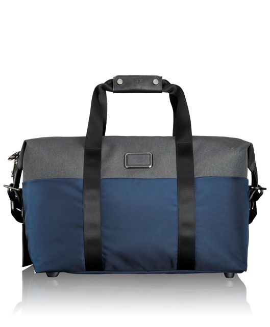 Small Soft Travel Satchel in Navy/Anthracite