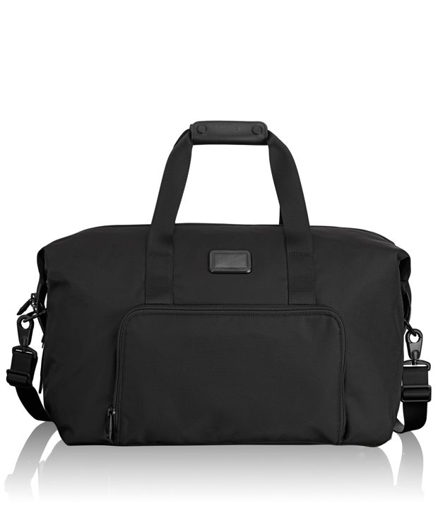 Double Expansion Travel Satchel in Black