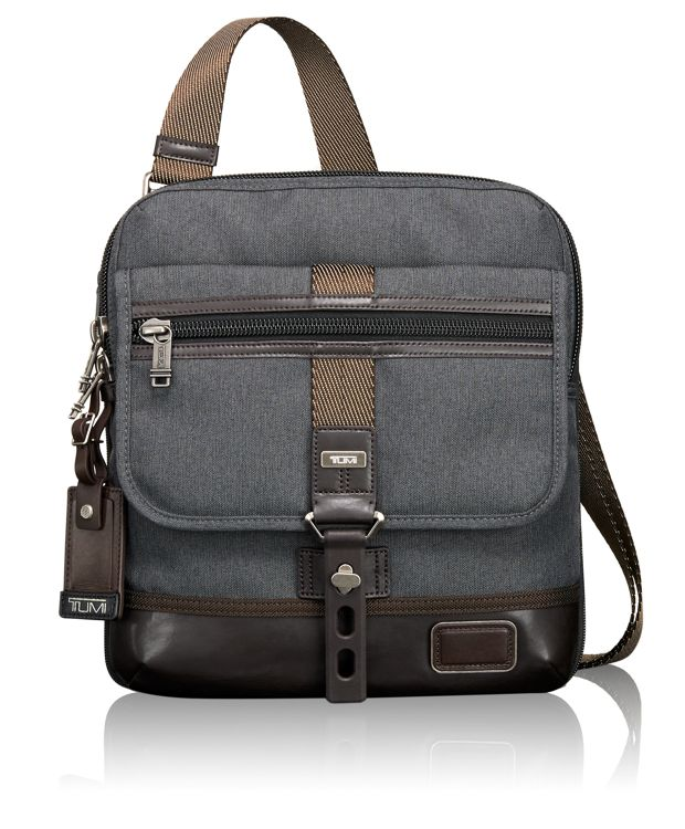 Annapolis Crossbody Zip Flap in Anthracite