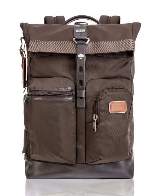 Luke Roll Top Backpack in Espresso
