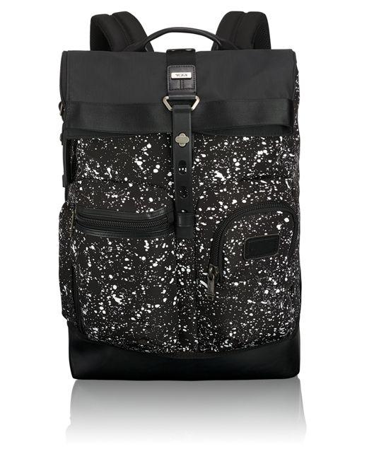 Luke Roll Top Backpack in Galaxy Print