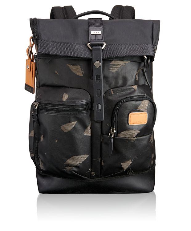 Luke Roll Top Backpack in SMOKE CHARACTER