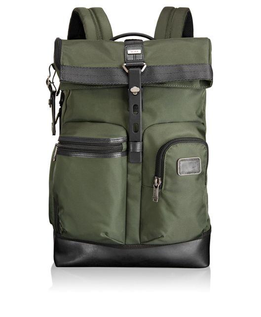 Luke Roll Top Backpack in Spruce