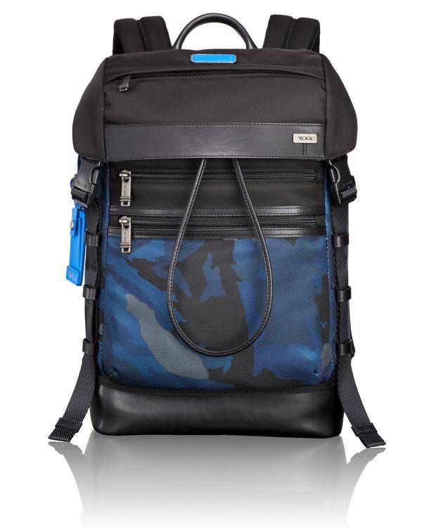 Kinser Flap Backpack in Blue Camo