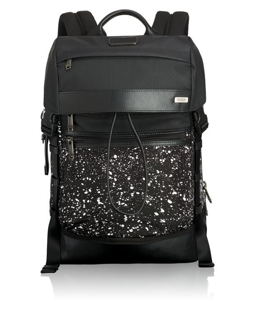 Kinser Flap Backpack in Galaxy Print