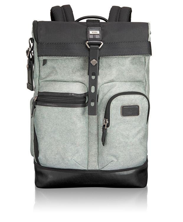 Luke Roll Top Backpack in Greystone