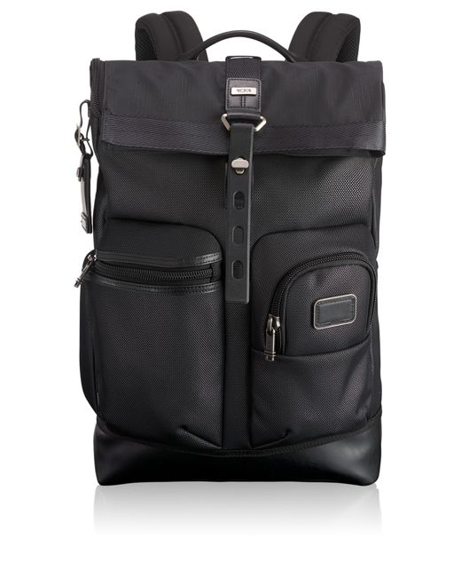 Luke Roll Top Backpack in Reflective Silver
